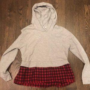 A hooded shirt